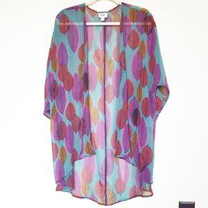 Lularoe Chiffon Feather Kimono/Cover Up